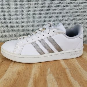 Adidas Grand Court Platinum Metallic Shoes Sneaker